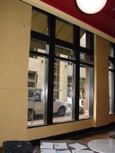 window mullion electrostatic painting