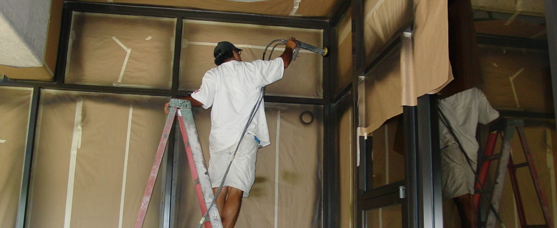 electostatic-painting-metal-window-frames-powdercoat