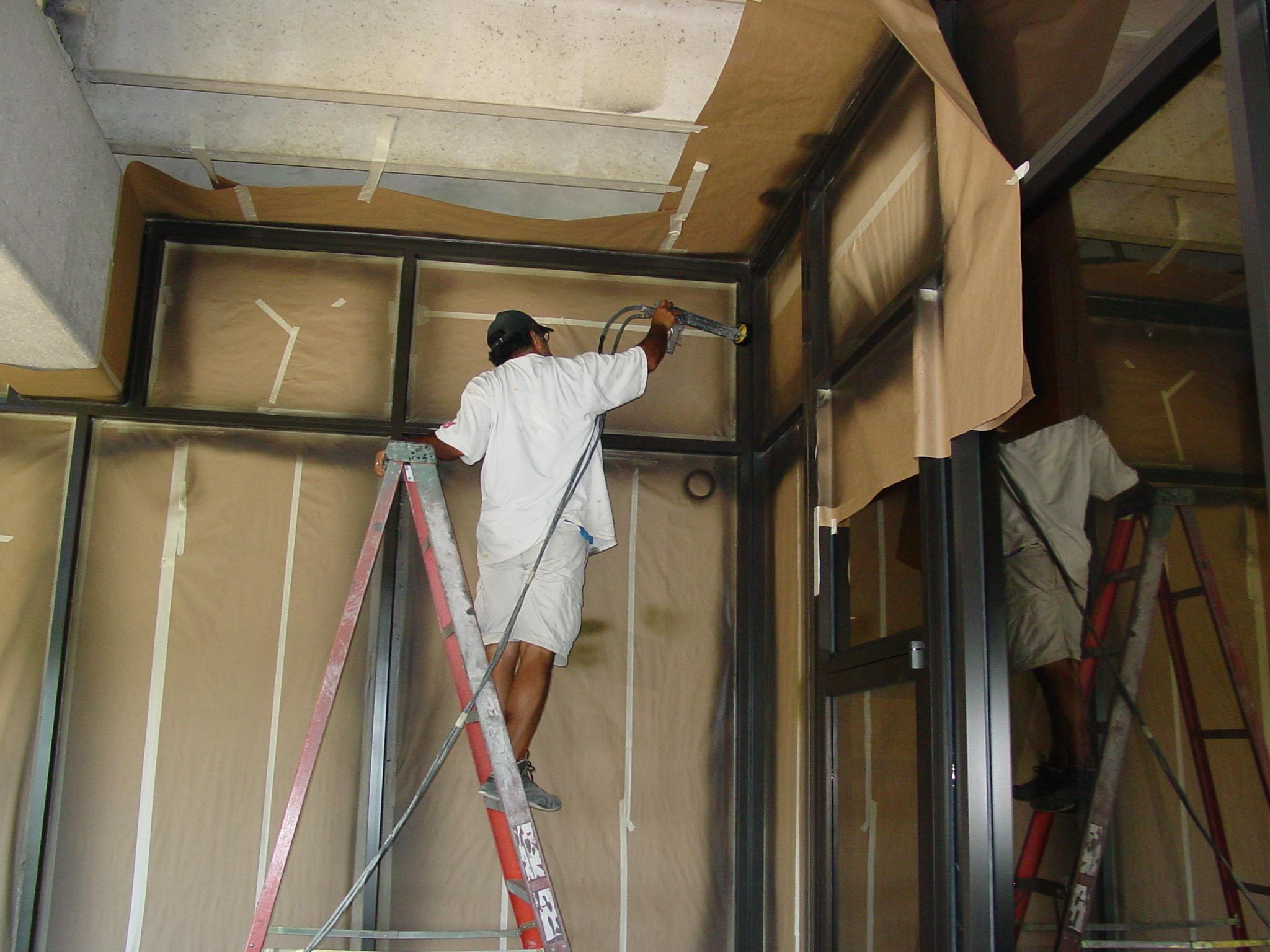 Electostatic Painting Metal Window Frames Powdercoat Electro