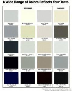 Electro Static Painting Color Chart